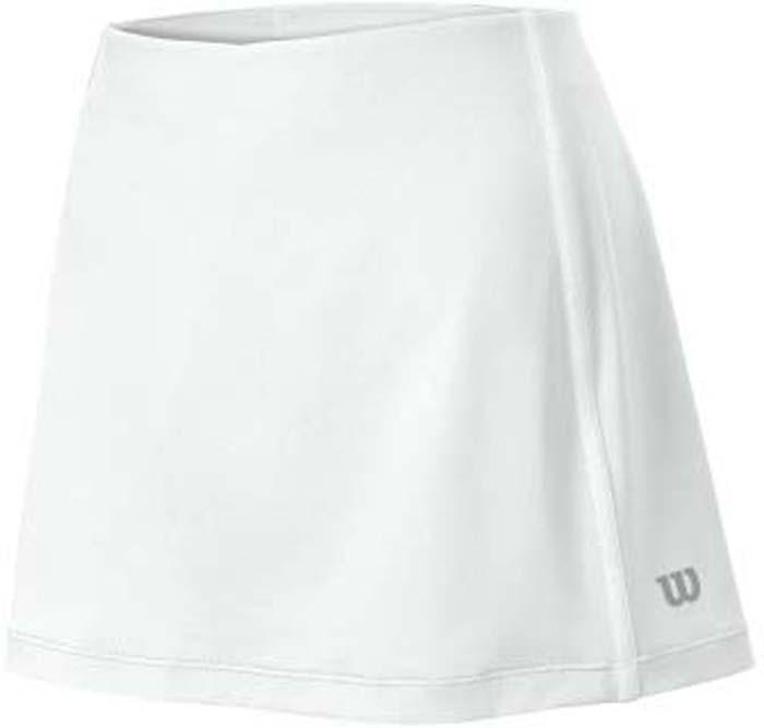 Юбка для тенниса женская Wilson Team 12.5, цвет: белый. WRA724701. Размер S (44)WRA724701Теннисная юбка Wilson «Team 12.5» создает женственный образ. Модель, изготовленная из полиэстера и спандекса, невероятно легкая приятная на ощупь, не сковывает движения, обеспечивая комфорт. Эластичный пояс выгодно подчеркивает фигуру и обеспечивает надежную посадку. Модель идеальна для занятий теннисом.