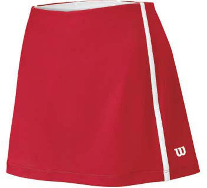 Юбка для тенниса женская Wilson Team 12.5, цвет: красный. WRA724702. Размер XS (42)WRA724702Теннисная юбка Wilson «Team 12.5» создает женственный образ. Модель, изготовленная из полиэстера и спандекса, невероятно легкая приятная на ощупь, не сковывает движения, обеспечивая комфорт. Эластичный пояс выгодно подчеркивает фигуру и обеспечивает надежную посадку. Модель идеальна для занятий теннисом.