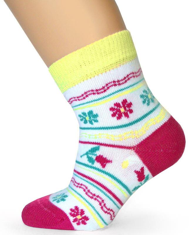 Носки для девочки Touch Gold, цвет: белый. 142. Размер 20/22 носки для девочки touch gold цвет розовый 129 размер 20 22