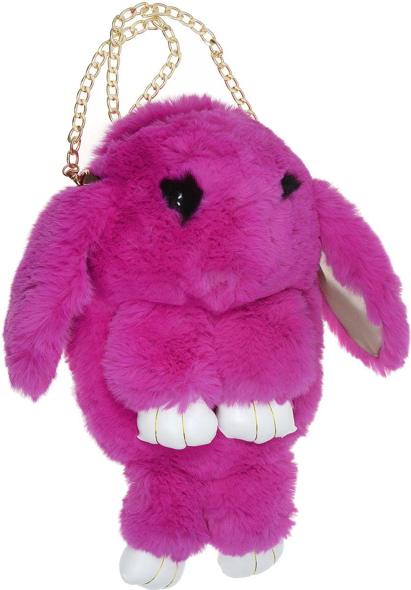 Vebtoy Рюкзак дошкольный Пушистый кролик цвет фуксияРК-603_фуксияVebtoy Рюкзак дошкольный Пушистый кролик цвет фуксия