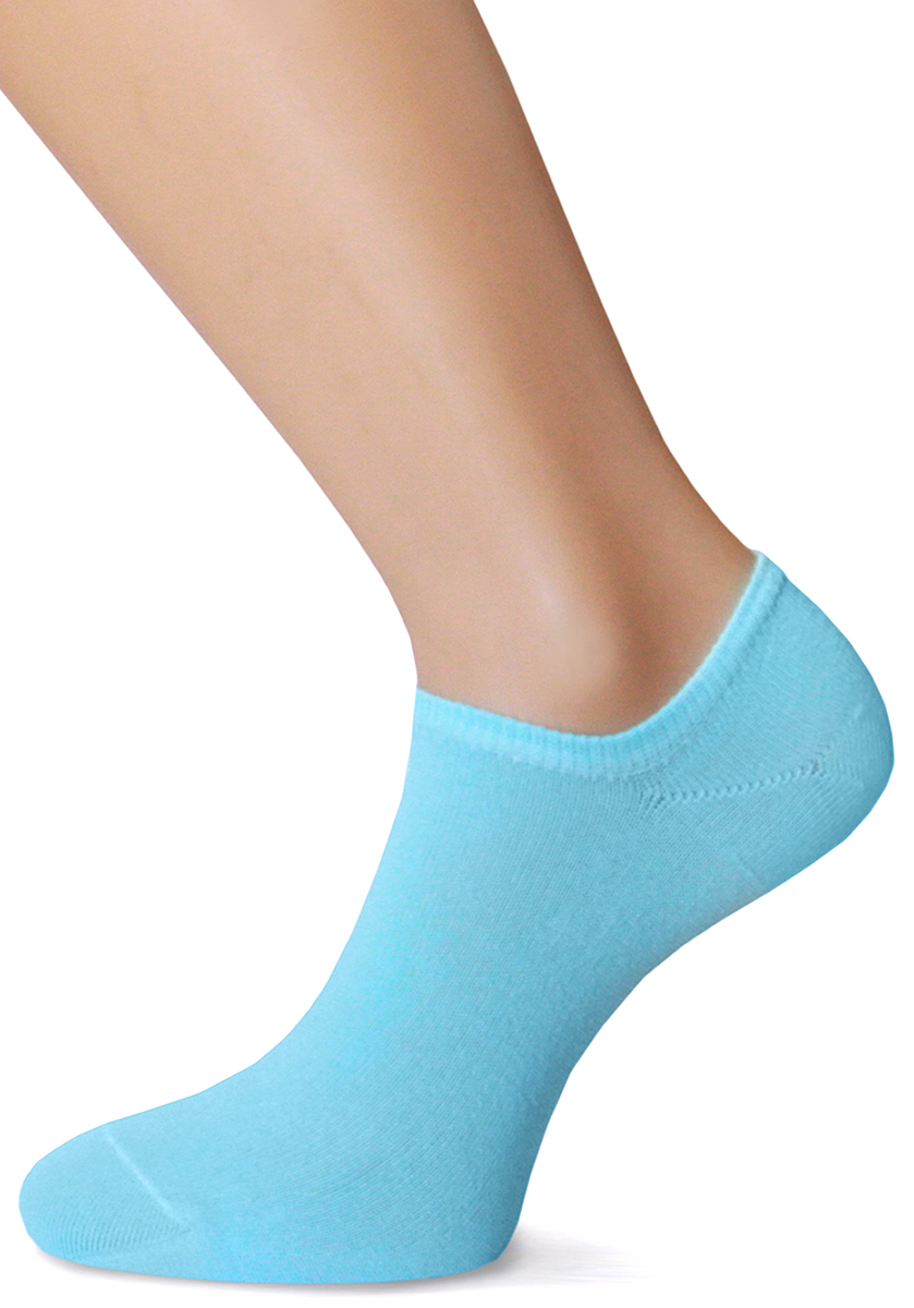 Носки женские Touch Gold, цвет: голубой. 346. Размер 23/25346Носки женские Touch Gold с низким кроем - прекрасный вариант под мокасины или кроссовки для ценящих комфорт, уют и активную деятельность.