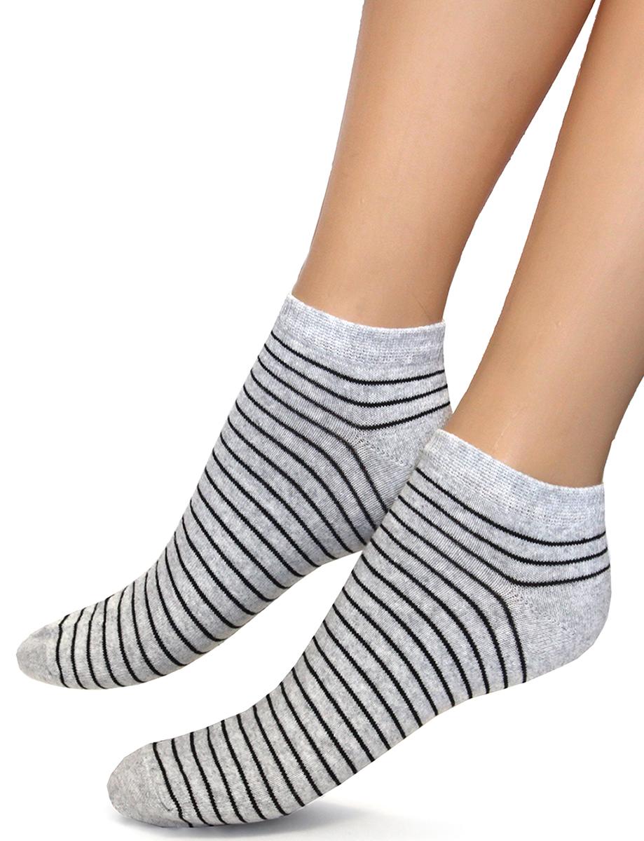 Носки женские Touch Gold, цвет: серый. 354. Размер 23/25354Укороченные женские носки с классическими полосками. Носить такое изделие удобно и приятно.
