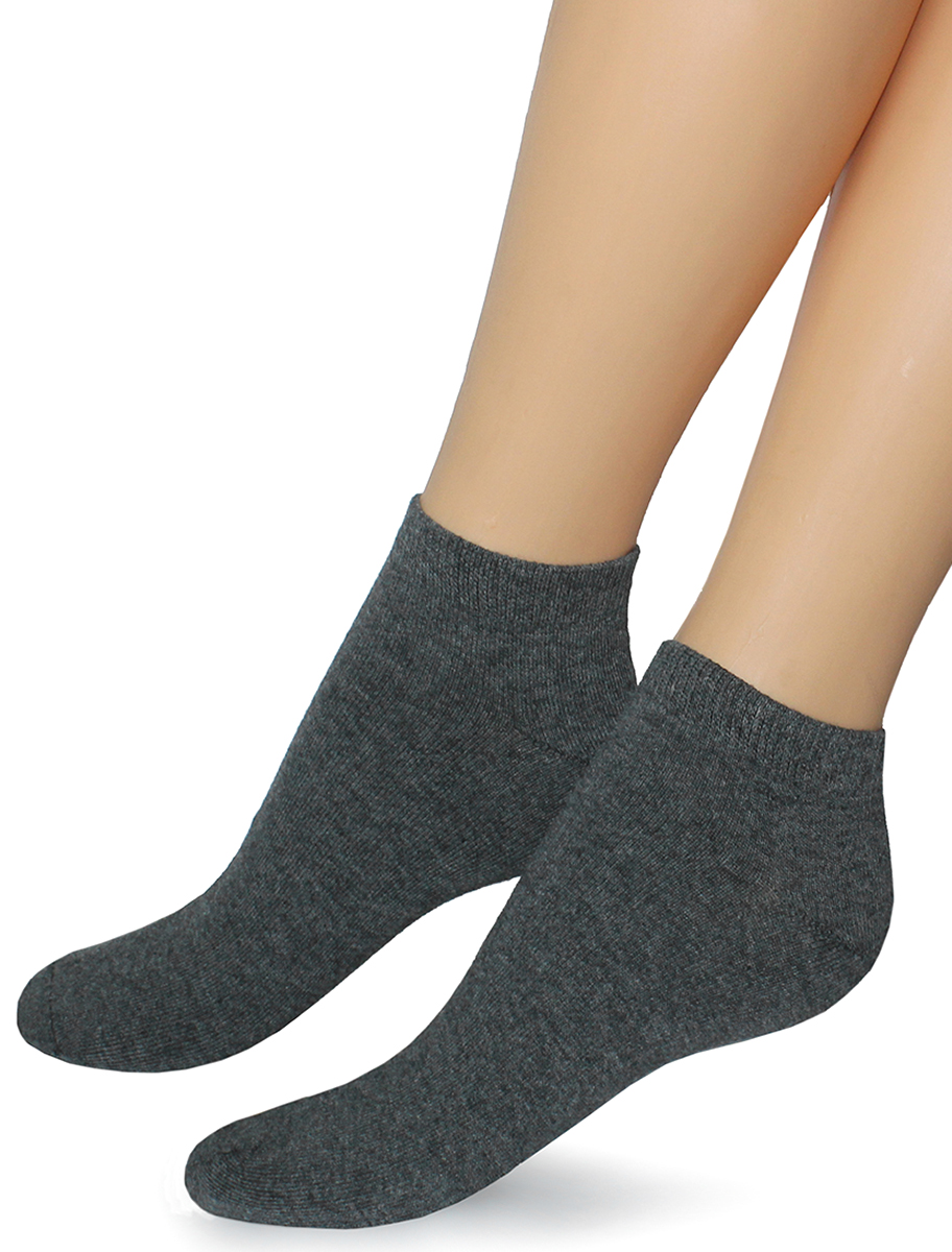 Носки женские Touch Gold, цвет: темно-серый. 356. Размер 23/25356Женские однотонные носки со средним паголенком прекрасно подойдут для любительниц активного образа жизни.
