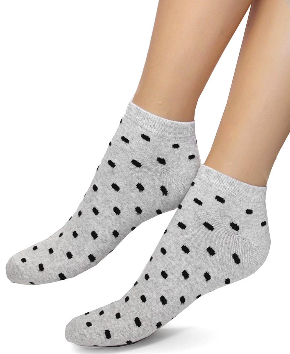 Носки женские Touch Gold, цвет: светло-серый. 357. Размер 23/25357Классические женские носки со средним паголенком. По всей длине носка крапинки, которые придают изделию элегантность.