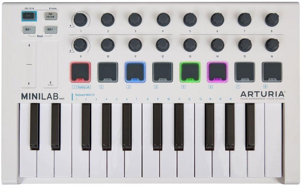 Arturia MiniLab mkII, White MIDI-клавиатура a081829 noritsu qss3301 minilab roller