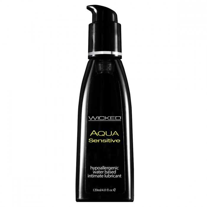 Wicked Лубрикант Aqua Sensitive, 120 мл baile nozzle for finger мини вибратор