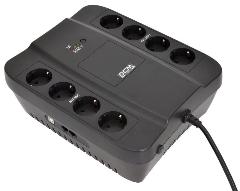 Powercom SPD-1000U линейно-интерактивный ИБПSPD-1K00-6G0-244UИсточники бесперебойного питания с расширенным диапазоном автоматического регулирования напряжения предназначены для защиты персональных компьютеров, рабочих станций и небольших серверов от основных неполадок с электропитанием. Новейший микропроцессор, режим энергосбережения Green Mode, «холодный» старт, автоматический выключатель для защиты от короткого замыкания и перегрузок – все это обеспечивает надежность работы Вашего оборудования. Возможна установка пределов работы стабилизатора напряжения и режима работы Green Mode при помощи специальной программной утилиты. Для продления срока службы аккумуляторной батареи используется алгоритм зарядки с учетом температурной компенсации. большому количеству выходных евророзеток ИБП серии SPIDER обеспечат надежное и удобное подключение любой компьютерной техники в офисе или дома.