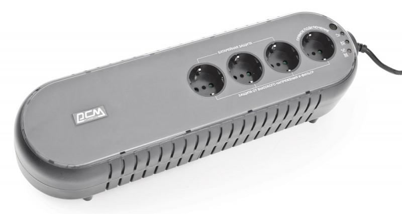 Powercom WOW 1000U резервный ИБПWOW-1K0A-6GG-2440Сверхкомпактный и легкий ИБП для домашнего использования, обеспечивает надежную защиту персональных компьютеров, сетевых коммутаторов, модемов, роутеров и сетевых хранилищ данных. Защита от короткого замыкания выполнена без использования плавких предохранителей – достаточно просто нажать кнопку автоматического выключателя, и ИБП снова готов к работе. Модели с индексом U снабжены не только встроенной защитой телефонной и сетевой линии от импульсных помех, но USB-портом для связи с компьютером. После подключения к USB-порту компьютера возможно корректное сворачивание операционной системы с сохранением данных при разряде аккумулятора ИБП, а c использованием программного обеспечения UPSMON, рассылка сообщений о состоянии ИБП и электросети, ведение истории событий и многое другое. Модели серии WOW обеспечат надежную защиту электропитания компьютерной и сетевой техники дома и в небольшом офисе.
