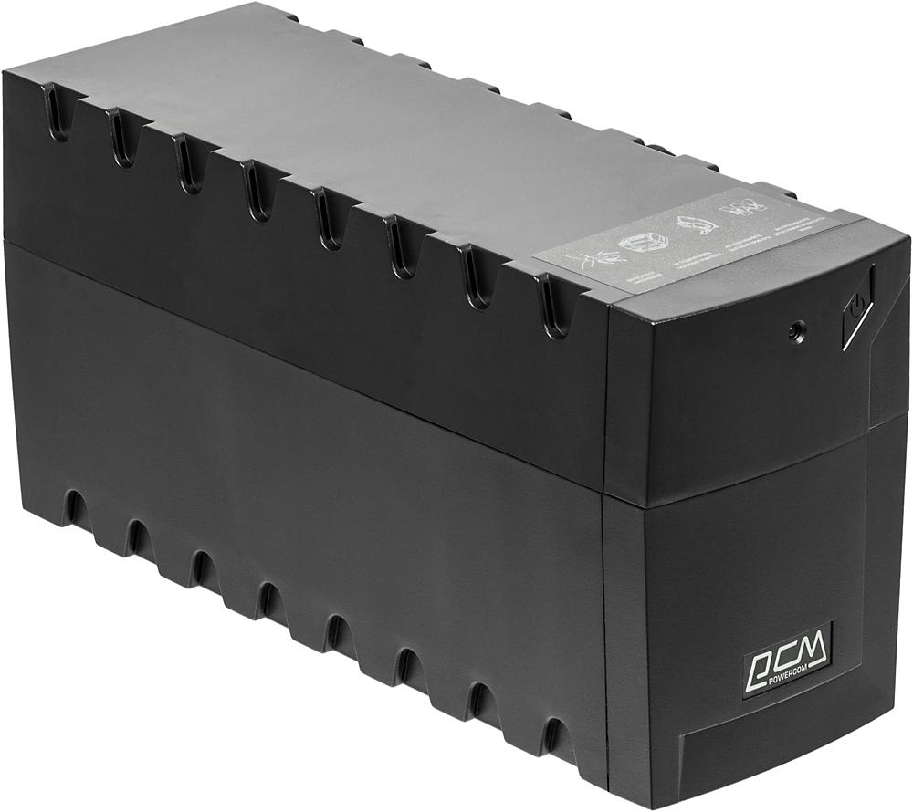 Powercom Raptor RPT-600A линейно-интерактивный ИБПRPT-600AСверхкомпактный линейно-интерактивный ИБП RPT-600A/600AP SE01 предназначен для защиты персональных компьютеров, рабочих станций и прочего вычислительного и телекоммуникационного оборудования от основных неполадок с электропитанием: высоковольтных выбросов, электромагнитных и радиочастотных помех, понижений, повышений и полного исчезновения напряжения в электросети.