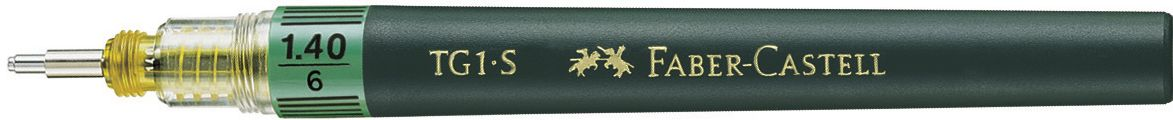 Faber-Castell Рапидограф TG1-S 1,4 мм160014Рапидограф TG1-S идеальныйвысококачественный интрумент для черчения, кончик из нержавеющей стали, для туши, растворимой в воде. Обозначение толщины линии на корпусе, код цветов ISO на капсуле или балончике для заправки тушью, тощина 1,40 мм