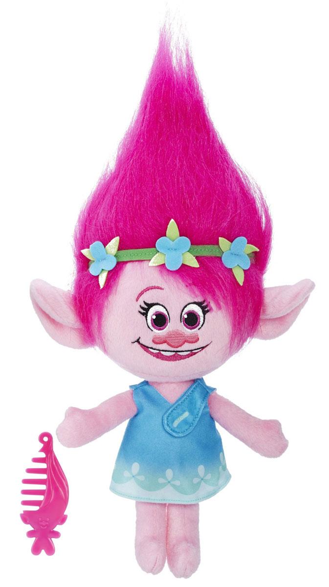 Trolls Мягкая озвученная игрушка Поппи 33,5 см покрывало непоседа trolls принцесса розочка 145х200 хлопок100 бязь стеганое мультиколор