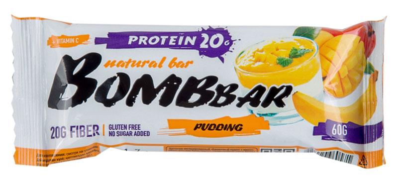 """""""Bombbar"""" - это спортивный батончик с высоким содержанием протеина и минимальным количеством сахара. Обладает восхитительным вкусом, быстро снабжает организм многокомпонентным протеином, отлично подходит для белковой диеты.Протеиновый батончик """"Bombbar"""":- поможет снизить вес,- питает мышечную массу,- придает эффект сытости,- улучшает общее состояние системы пищеварения,- способствует росту полезной микрофлоры,- способствует подержанию здорового уровня сахара в крови,- не содержит сахар,- не содержит ГМО. Состав: белки 40% (концентрат сывороточного белка, концентрат молочного белка), изомальтоолигосахарид, вода, эквивалент масла какао, банан порошок, манго порошок, агент влагоудерживающий (глицерин, сорбитол), соль, ароматизаторы натуральные, регулятор кислотности - лимонная кислота, аскорбиновая кислота (витамин С), натуральный подсластитель - стевиозид. Может содержать следы арахиса. Содержит сорбит: при чрезмерном употреблении может оказывать слабительное действие.  Как повысить эффективность тренировок с помощью спортивного питания? Статья OZON Гид"""