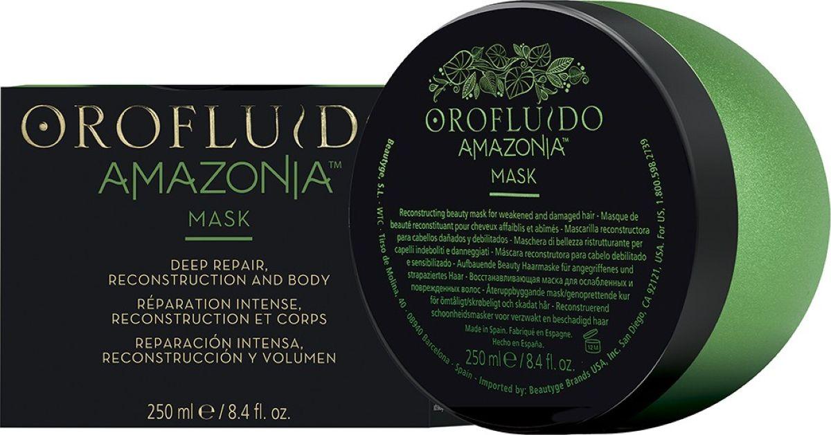 Orofluido Amazonia Mask Восстанавливающая маска для ослабленных и поврежденных волос, 250 мл7240455000Маска для волос Orofluido Amazonia обогащенная кератином, глубоко проникает в волосы, чтобы восстановить структурное повреждение и укрепить волосяное волокно изнутри. Он сглаживает и уплотняет кутикулу, уменьшая признаки повреждения и обеспечивая здоровые, эластичные волосы, которые полны жизненной силы. В составе продукта содержатся омега-кис-лоты омега-3 и омега-6, а также кератиновые аминокислоты. В тонком аромате Orofluido Amazonia присутствуют экзотические ягоды, соединенные с нотками цитрусовых и имбиря, а также цветочные нотки на чувственной мускусной основе. Линейка Orofluido Amazonia предназначена для восстановления поврежденных волос и идеально подходит для ослабленных, сильно поврежденных и ломких волос. Масло Муру-муру Богато жирными кислотами, которые помогают восстановить кутикулу и делают волосы мягкими, гладкими и устойчивыми к повреждениям. Формирует защитную пленку, сглаживает кутикулу – обеспечивает восстановление и плотность. Масло Сача Инчи Высокое содержание ненасыщенных жирных кислот Omega-3 и Omega-6. Восстанавливает волосы, делает их более стойким к повреждениям. Масло ягод Асаи Одни из самых питательных ягод на планете, которые обладают антиоксидантными свойствами. Обеспечивают питание волос изащиту от свободных радикалов.Аромат: Бодрящий аромат экзотических ягод с деликатными острыми верхними нотами цитруса и имбиря, смешиваются с легкими цветочными нотами сердца и чувственными мускусными базовыми нотами.Объем: 250 мл