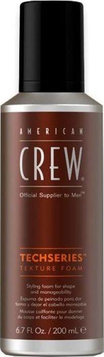 American Crew Texture Foam Пена для укладки средней фиксации, 200 мл7241833000American Crew Texture Foam Techseries - пена, специально разработанная, что бы обеспечить послушную, гибкую укладку и придать должный объем Вашим волосам. Имеет средний естественный уровень блеска. Степень фиксации: СредняяОбъем: 200 мл