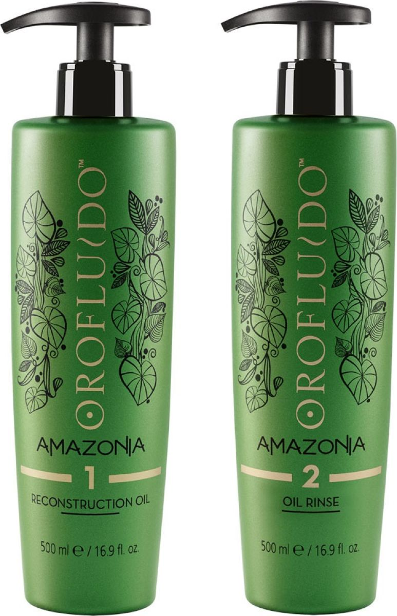 Orofluido Amazonia Set Набор Шаг, 1 Восстанавливающее масло + Шаг, 2 Очищающий шампунь, 500 +500 мл72421360001. Восстанавливающее масло Orofluido Amazonia Reconstruction Oil, 500 мл - это первый шаг в системе восстановления волос Орофлюидо Амазония. Масло интенсивно питает локоны, заполняя пористые участки структуры и восстанавливая оптимальный гидробаланс волос. Уникальное сочетание 3 масел Амазонии: масло Мурумуру, масло Сача Инчи и экстракт ягод Асаи.Масло Муру-муру Богато жирными кислотами, которые помогают восстановить кутикулу и делают волосы мягкими, гладкими и устойчивыми к повреждениям. Формирует защитную пленку, сглаживает кутикулу – обеспечивает восстановление и плотность. Масло Сача Инчи Высокое содержание ненасыщенных жирных кислот Omega-3 и Omega-6. Восстанавливает волосы, делает их более стойким к повреждениям. Масло ягод Асаи Одни из самых питательных ягод на планете, которые обладают антиоксидантными свойствами. Обеспечивают питание волос и защиту от свободных радикалов.Для более интенсивного воздействия используйте тепло. Через 15-25 минут тщательно смойте масло с волос с помощью очищающего средства (Шаг 2). 2. Очищающее средство Orofluido Amazonia Oil Rinse, 500 мл - второй шаг процедуры. Средство создано на основе масла и предназначено для полного удаления восстанавливающего масла (Шаг 1) с волос. Важно! Используйте это средство только после шага 1! Способ применения: Нанесите на мокрые волосы достаточное количество очищающего средства. С помощью гребня распределите его по волосам, и легкими массажными движениями помассируйте волосы до образования густой пены. Смойте и повторите процедуру, чтобы полностью удалить остатки масел с волос, понадобиться большое количество воды. При желании после можно использовать Маска глубокого восстановления Шаг 3.