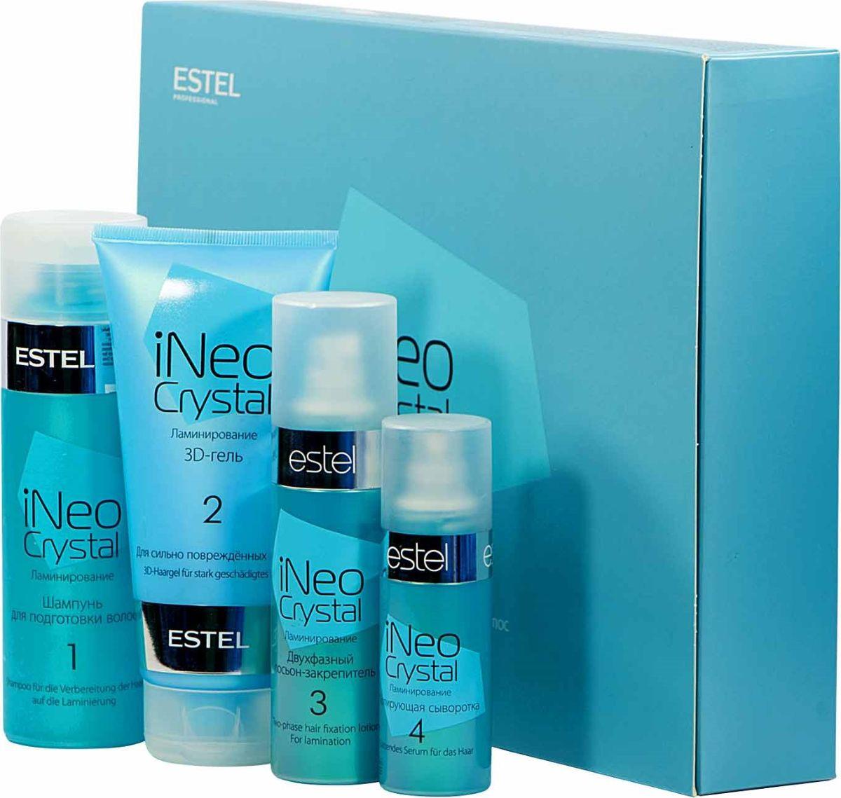 Estel iNeo-Crystal Набор для процедуры ламинирования волос с 3D-гелем для сильно поврежденных волосCR.5Процедура разработана в лаборатории ESTEL с учетом новейших достижений современной науки и отвечает самым высоким стандартам качества, обеспечивая отличный результат.Результат: Укрепление и выравнивание структуры волоса;Придание дополнительного объема, блеска, шелковистости;Сохранение и поддержание цвета окрашенных волос;Предохранение от механических повреждений и вредного воздействия окружающей средыОбъем: