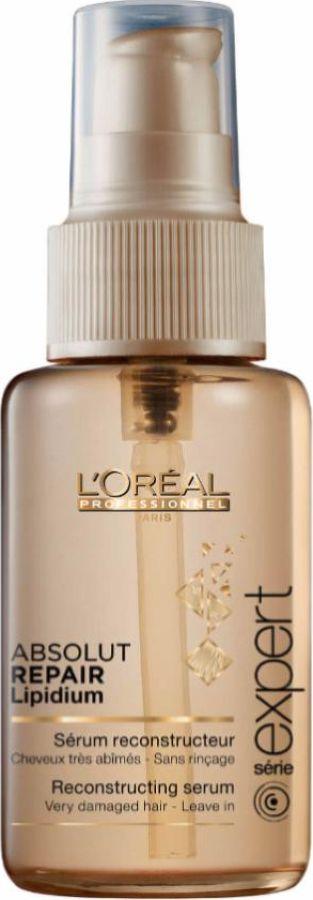 LOreal Professionnel Expert Absolut Repair Lipidium Instant Resurfacing Concentrate Сыворотка для кончиков волос, 50 млE2219500Концентрат для глубокого восстановления, мгновенное впитывание. Комплекс обогащен восстанавливающими липидами. Это незаменимый «щит», в состав которого входят фитокератин и керамид, восполняющие недостаток естественного межклеточного «цемента» и восстанавливают центральную структуру волоса. Стойкая и длительная реконструкция сильно поврежденных участков и защита всех зон волос. Аналогично действию праймера под макияж, он подготавливает волосы для последующей реконструкции. Результат применения: средство глубоко впитывается в волокно волоса, до самых кончиков волосы подготовлены к устранению всех повреждений. Насыщенный крем золотистого оттенка.Объем: 50 мл
