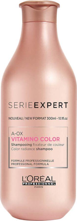 LOreal Professionnel Expert Vitamino Color AOX Shampoo Шампунь-фиксатор цвета для окрашенных волос, 300 млE2256700Особое признание среди дам с окрашенными локонами заслужила эффективная формула L`Oreal Professionnel Vitamino Color A-OX Shampoo, отвечающая за сохранение цвета. Ее активные компоненты обволакивают каждый волосок особой пленочкой, которая будет защищать шевелюру от разнообразных повреждений.Объем: 300 мл