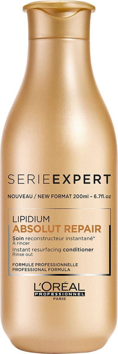 LOreal Professionnel Expert Absolut Repair Lipidium Conditioner Смываемый уход для сильно поврежденных волос, 200 млE2259800Смываемый восстанавливающий уход для сильно поврежденных волос - великолепное средство для возвращения ломким и безжизненным волосам здоровья и красоты. Моментальное восстановление здорового вида и жизненной энергии волос. Проникает в кутикулу волоса , тщательно питает, увлажняет и восстанавливает структуру волос. Уход создает на каждом волоске защитный слой, который препятствует проникновению поражающих факторов окружающей среды. Поэтому волосы становятся упругими, шелковистыми, сильными и блестящими даже при постоянной сушке феном и использовании средств для укладки волос. Также в состав средства входит УФ фильтр, который защищает волосы от вредного воздействия ультрафиолета, приводящего к выгоранию, ломкости и сухости волос. Смываемый уход обладает приятным ароматом и нежирной текстурой, в короткий срок питает и увлажняет Ваши волосы и облегчает процесс расчесывания.Объем: 200 мл