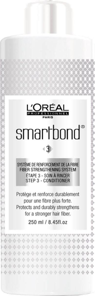 LOreal Professionnel Smartbond Conditioner Step, 3 Кондиционер для волос Смываемый уход, 250 млE6452842Салонные процедуры LOreal Smartbond направлены на защиту волос во время окрашивания и осветления. Чтобы эффект сохранился дольше, компания Loreal Professionnel рекомендует смываемый уход в качестве 3 этапа LOreal Smartbond для применения в домашних условиях. Продукт закрепляет результат за счет содержания в его формуле керамида. Волосы сохраняют мягкость, блеск и эластичность, а полученный оттенок остается таким же ярким и привлекательным.Объем: 250 мл