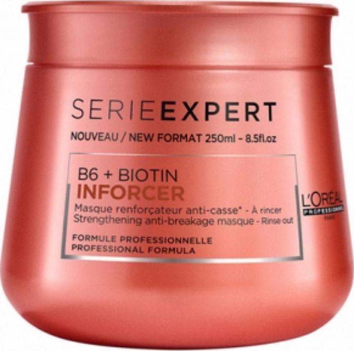 LOreal Professionnel Expert Inforcer Masque Укрепляющая маска, 250 мл090341908Укрепляющая маска LOreal Professionnel Inforcer Strengthening Anti-Breakage Masque - это эффективное средство, устраняющее ломкость и выпадение волос. Специально разработанная формула с витамином В6 и биотином увеличивает прочность локонов, делая их блестящими и идеально гладкими. При регулярном использовании маски волосы становятся более крепкими, сильными и здоровыми.Объем: 250 мл