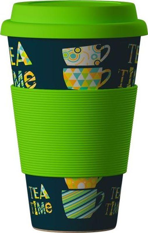 """BambooCup """"Зеленый чай"""" - термо эко-кружка, изготовленная из органических, натуральных, стерильных бамбуковых волокон в комбинации с кукурузной мукой и смолой из аминокислот.    Экологичная утилизация - просто сомните, прокипятите в кипящей воде и поместите в органический компост."""