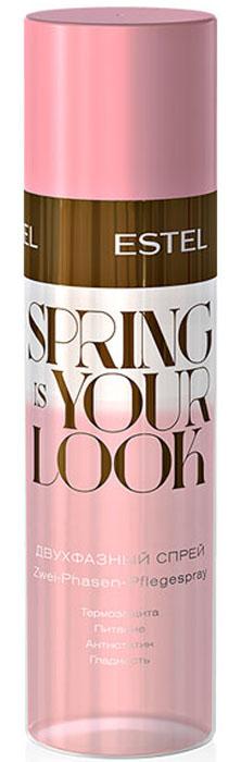 Estel Spring is your look Двухфазный спрей для волос, 100 млSYL/SPЗащищает волосы от воздействия высоких температур во время укладки. Облегчает расчёсывание, разглаживает, придаёт блеск и снимает статику.Активные компоненты: Витаминный комплекс Soluvit Richter NP, TSC* – top secret component.Объем: 100 мл