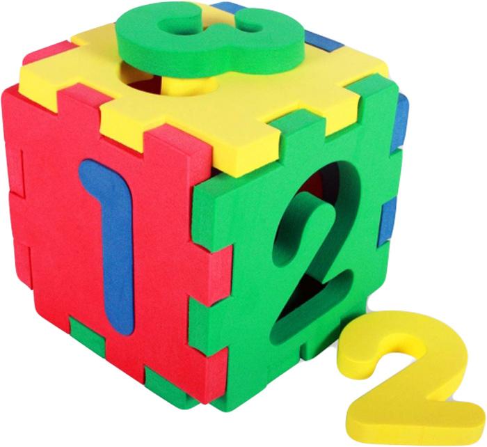 Бомик Мягкий конструктор Кубик-цифры бомик пазл для малышей цифры цвет основы синий