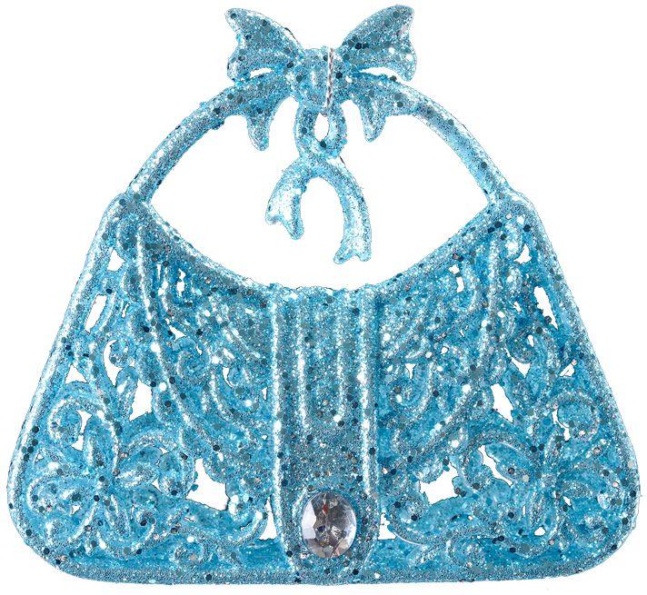 Украшение для интерьера новогоднее Erich Krause Сумочка, 8 см. 3167731677Украшение в виде женской сумочки выполнено в голубом цвете и декорировано блестками и блестящей стразой. Ручка сумки украшена кокетливым бантиком. Новогодние украшения всегда несут в себе волшебство икрасоту праздника. Создайте в своем доме атмосферу тепла, веселья и радости, украшая еговсей семьей.