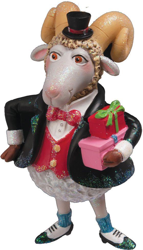 Украшение для интерьера новогоднее Erich Krause Джентельмен, 11,5 см36742Дизайнерский барашек во фраке и миниатюрном цилиндре порадует любителей оригинальных елочных украшений. Цена снижена, так как данная модель входила в коллекцию к году Овцы. Упаковка предназначена только для безопасной транспортировки и хранения.
