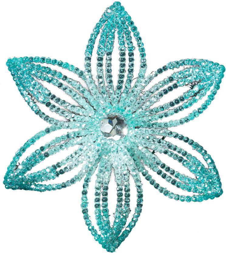 Украшение для интерьера новогоднее Erich Krause Снежный цветок, 14 см40326Украшение в виде лазурного цветка крупного размера подойдет для праздничного декора елки, а также для оформления интерьера. Упаковка - полибэг.