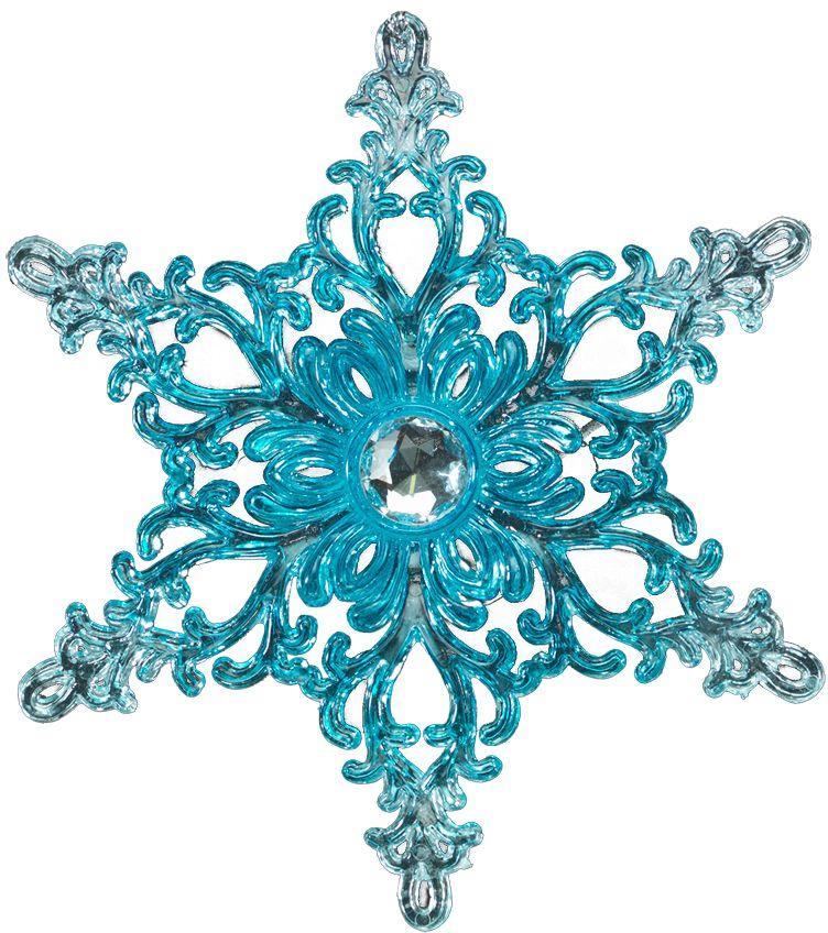 Украшение для интерьера новогоднее Erich Krause Снежинка загадочная, 11,5 см. 4033940339Прозрачно-голубая снежинка, декорированная большой стразой, покоряет своим тонким рельефом. Упаковка - полибэг.