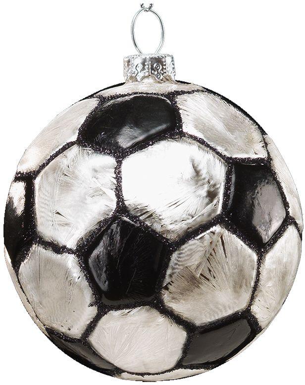Украшение для интерьера новогоднее Erich Krause Шар Футбольный мяч, 7,5 см41164Футбольный мяч, выполненный из качественного стекла, смотрится очень натуралистично. Украшение очень актуально в преддверии Чемпионата Мира. Групповая упаковка предназначена только для безопасной транспортировки и хранения.
