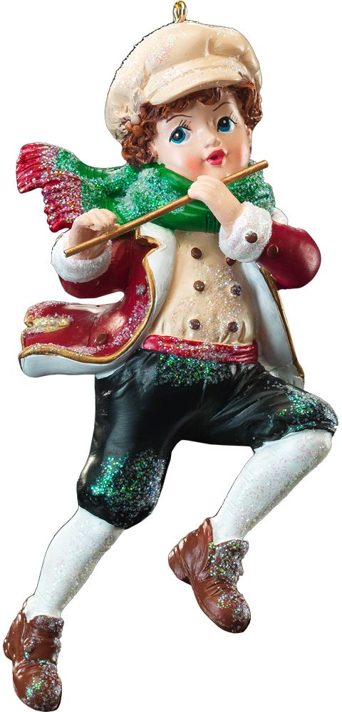 Украшение для интерьера новогоднее Erich Krause Юный музыкант, 11 см. 4121041210Украшения рождественской тематики в ретро-стиле . В Европе это также очень популярное направление.Новогодние украшения всегда несут в себе волшебство и красоту праздника. Создайте в своем доме атмосферу тепла, веселья и радости, украшая его всей семьей.
