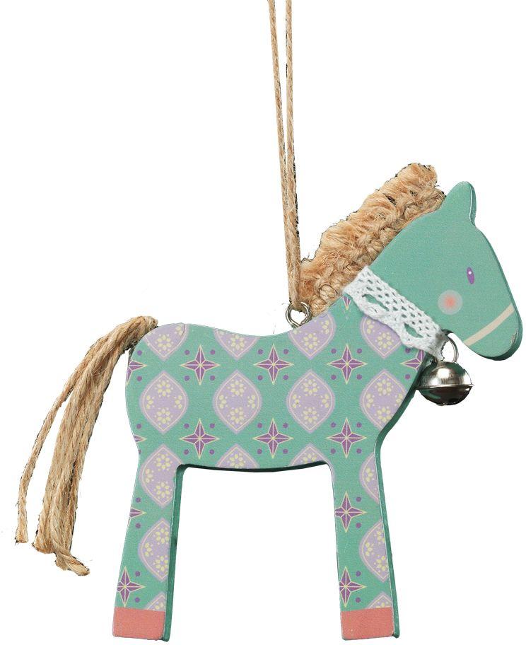 Украшение для интерьера новогоднее Erich Krause Милый пони, 11 см41281Нежное украшение в виде лошадки выполнено из древесины и декорировано гривой и хвостиком из веревочек. К шее лошадки прикреплен бубенчик. Новогодние украшения всегда несут в себе волшебство и красоту праздника. Создайте в своем доме атмосферу тепла, веселья и радости, украшая его всей семьей.