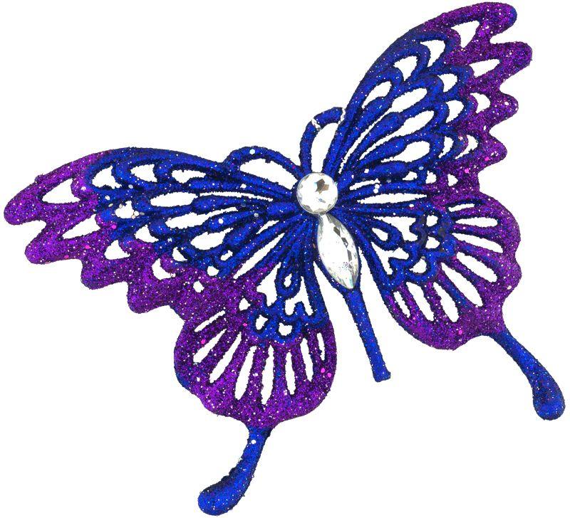 Украшение для интерьера новогоднее Erich Krause Махаон, 13 см43676Изящная, практически невесомая бабочка выполнена в насыщенно-фиолетовом цвете. Туловище бабочки декорировано стразами, а кончики крыльев усыпаны сверкающими блестками. Представлено две модели в ассортименте, находятся в групповой упаковке в равных долях. Выбор модели невозможен. Упаковка - полибэг.