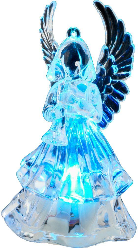 Украшение для интерьера новогоднее Erich Krause Ангел, с подсветкой, 9,5 см43708Фигурка ангела, выполненная из акрила, оснащена подсветкой, гармонично меняющей цвет. Переключатель находится на дне изделия, батарейка входит в комплект. Упаковка - полибэг.