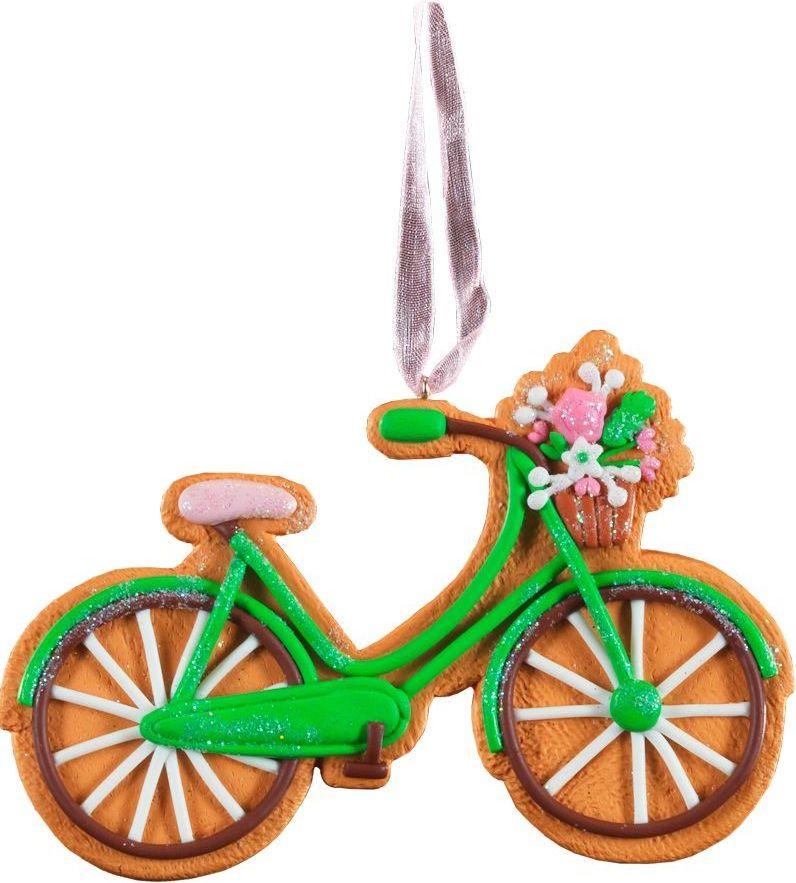 Украшение для интерьера новогоднее Erich Krause Пряничный велосипед, 11 см43724Легкое и очаровательное украшение напоминает пряник в форме велосипеда, покрытый тонкой глазурью. Изделие выполнено из глины и требует бережного отношения. Новогодние украшения всегда несут в себе волшебство и красоту праздника. Создайте в своем доме атмосферу тепла, веселья и радости, украшая его всей семьей.