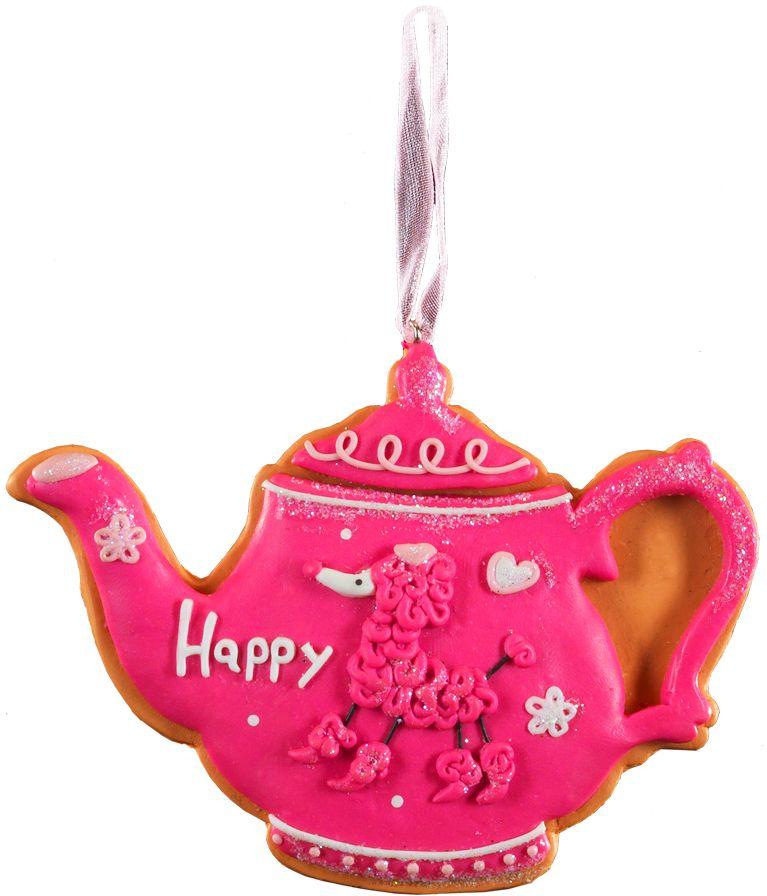 Украшение для интерьера новогоднее Erich Krause Пряничный чайник, 10,5 см43725Легкое и очаровательное украшение напоминает пряник в форме чайника, покрытый тонкой глазурью. Изделие выполнено из глины и требует бережного отношения. Упаковка - полибэг.