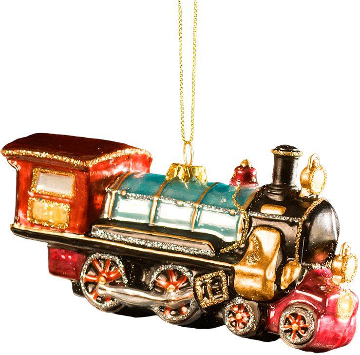 Украшение для интерьера новогоднее Erich Krause Паровоз, 13 см43757Стеклянный паровоз выглядит абсолютно натуралистично. Оригинальное и очень ценное украшение для елки. Яркие цвета изделия подчеркивают сияющие блестки.Новогодние украшения всегда несут в себе волшебство и красоту праздника. Создайте в своем доме атмосферу тепла, веселья и радости, украшая его всей семьей.