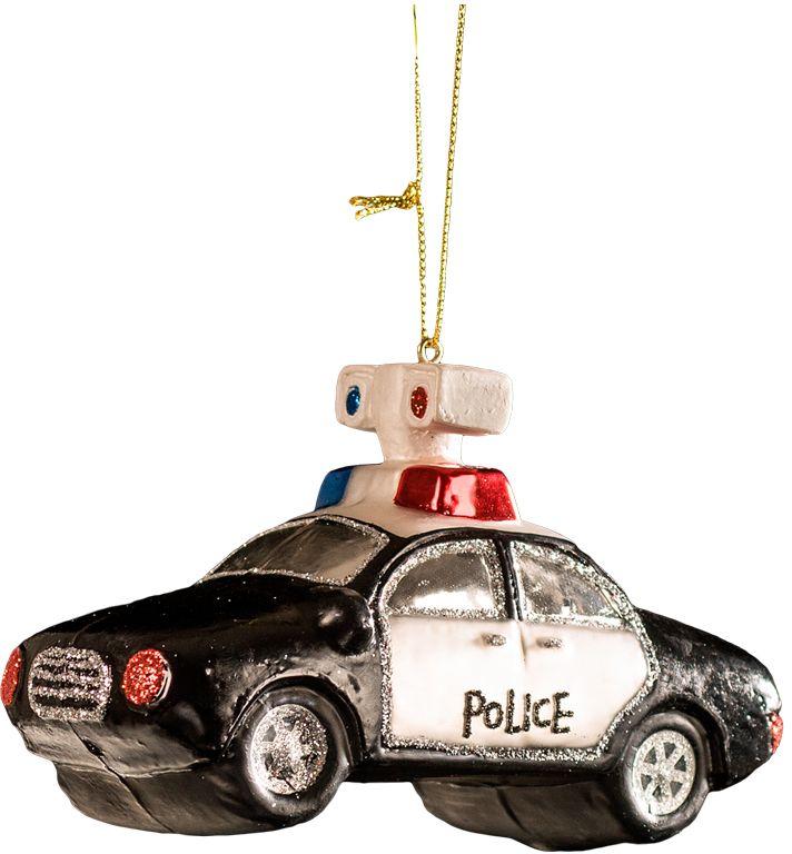 Украшение для интерьера новогоднее Erich Krause Полицейская машина, 12,5 см43758Праздничную елку могут украшать не только шары и сосульки, но и оригинальные украшения разных форм. Полицейская машина, сделанная из качественного стекла, смотрится очень эффектно и натурально, а ее детали аккуратно и красиво прорисованы. Упаковка - слой плотной бумаги; предназначена только для безопасной транспортировки и хранения.