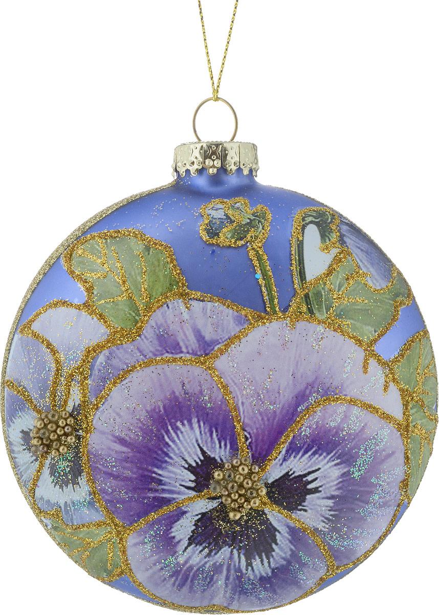 Украшение для интерьера новогоднее Erich Krause Цветочный сад. Медальон, 10 см43766Красивый медальон выполнен из матового стекла высокого качества. Лицевая сторона декорирована красочным изображением цветка, оформленным деликатными блестками. Оборотная сторона изделия украшена мельчайшим песком золотых блесток. Представлено две модели в ассортименте, находятся в групповой упаковке в равных долях. Выбор модели невозможен. Упаковка - слой плотной бумаги; предназначена только для безопасной транспортировки и хранения.