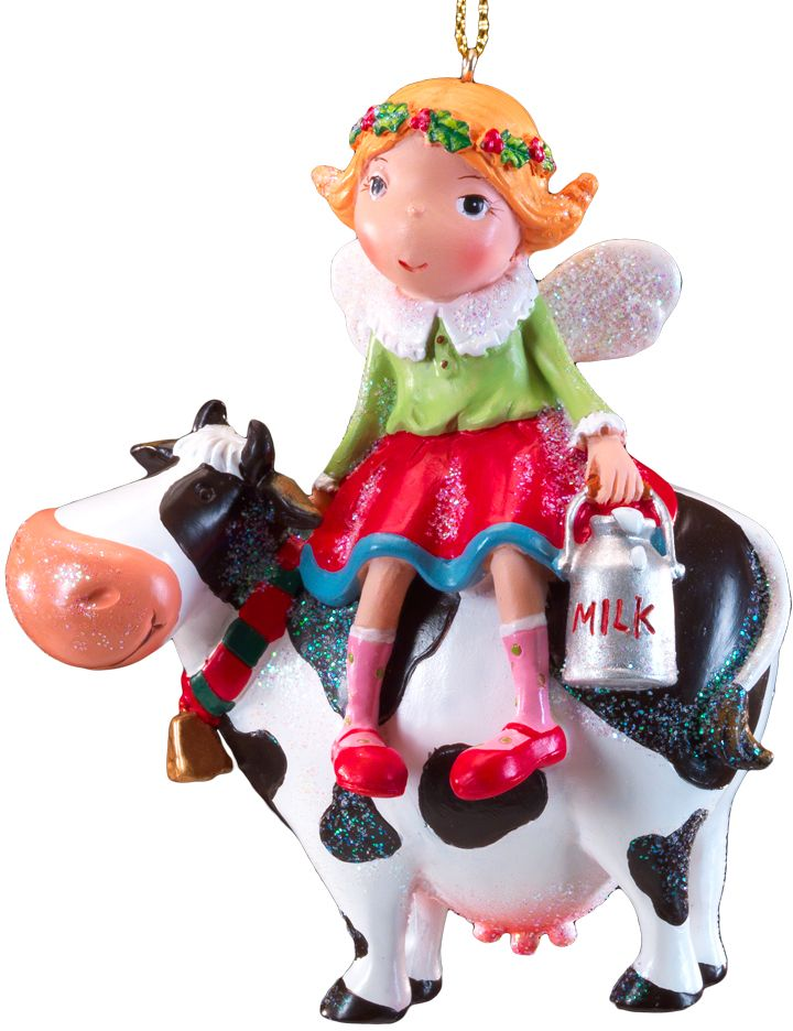 Украшение для интерьера новогоднее Erich Krause Ангел и Буренка, 10 см43897Необычное елочное украшение представляет собой маленького ангела, сидящего на корове. Фигурка невероятно милая при том, что является достаточно тяжелым. Больше подходит для искусственных елок. Новогодние украшения всегда несут в себе волшебство и красоту праздника. Создайте в своем доме атмосферу тепла, веселья и радости, украшая его всей семьей.