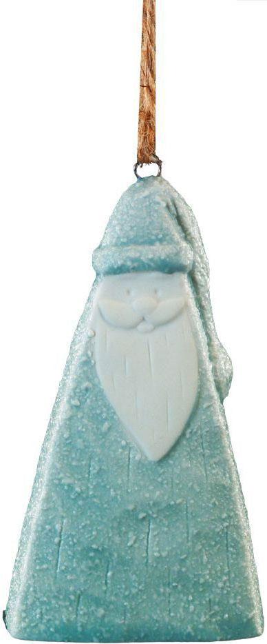 Новогоднее украшение в виде Деда Мороза необычно по своей форме, поскольку изделие представляет собой треугольник и отличается оригинальной шероховатой поверхностью. Цветовая гамма по-зимнему нежная, когда перекликаются белый и деликатно-голубой цвета.Новогодние украшения всегда несут в себе волшебство и красоту праздника. Создайте в своем доме атмосферу тепла, веселья и радости, украшая его всей семьей.