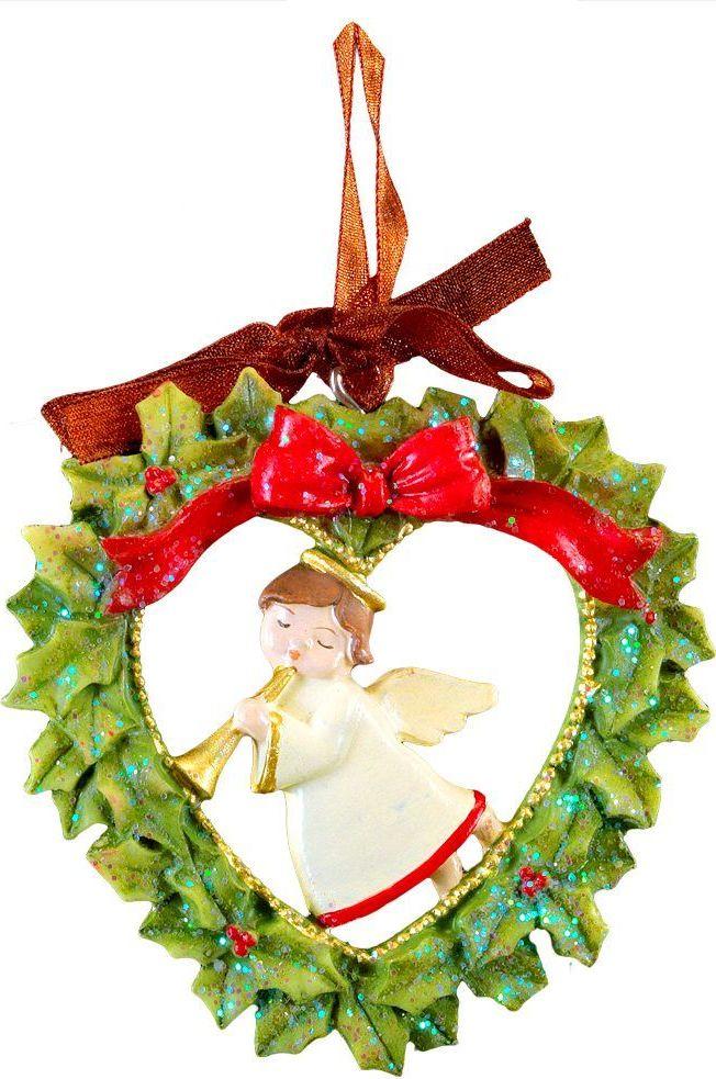 Украшение для интерьера новогоднее Erich Krause Ангел на Рождество, 7,5 см44226Рождественский ангел находится внутри изысканного рождественского венка. Изделие выполнено из полирезины и оснащено красивой ленточкой для подвешивания. В групповой упаковке каждое изделие завернуто в воздушно-пузырьковую пленку, предназначенную только для безопасной транспортировки и хранения.