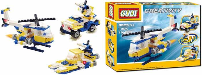 waveplay конструктор 99 a Gudi Конструктор 3 в 1 8109A