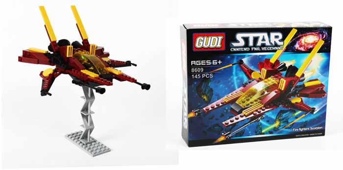 Gudi Конструктор Звездный десант 8609 детская игрушка gudi kase 4soldiers