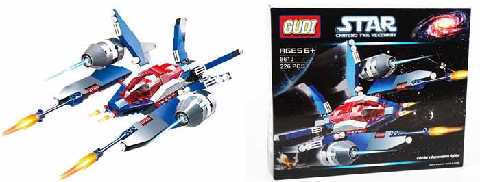 Gudi Конструктор Звездный десант 8613 детская игрушка gudi kase 4soldiers