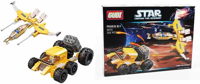 Gudi Конструктор Звездный десант 8615 детская игрушка gudi kase 4soldiers