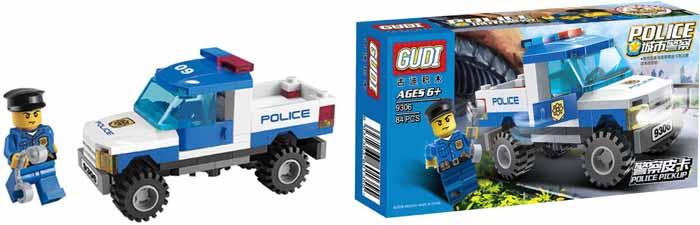 Gudi Конструктор Полиция 9306